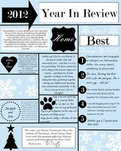 year in review template download