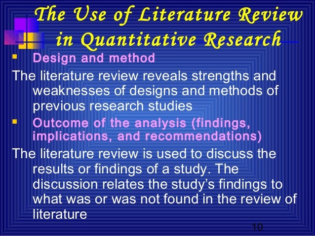 strengths and weaknesses of a literature review