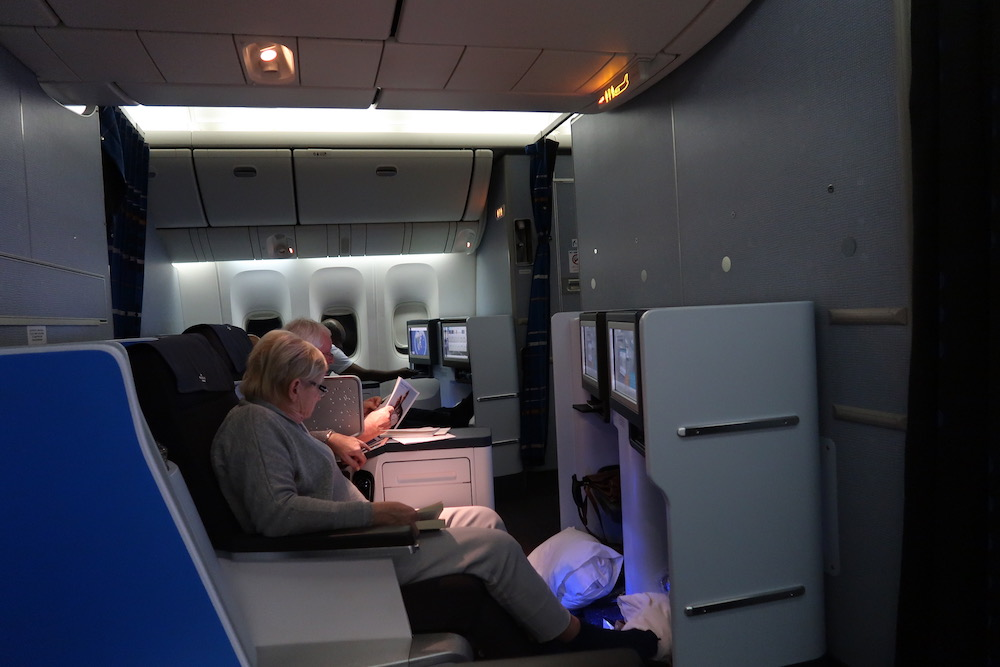 klm business class seats review