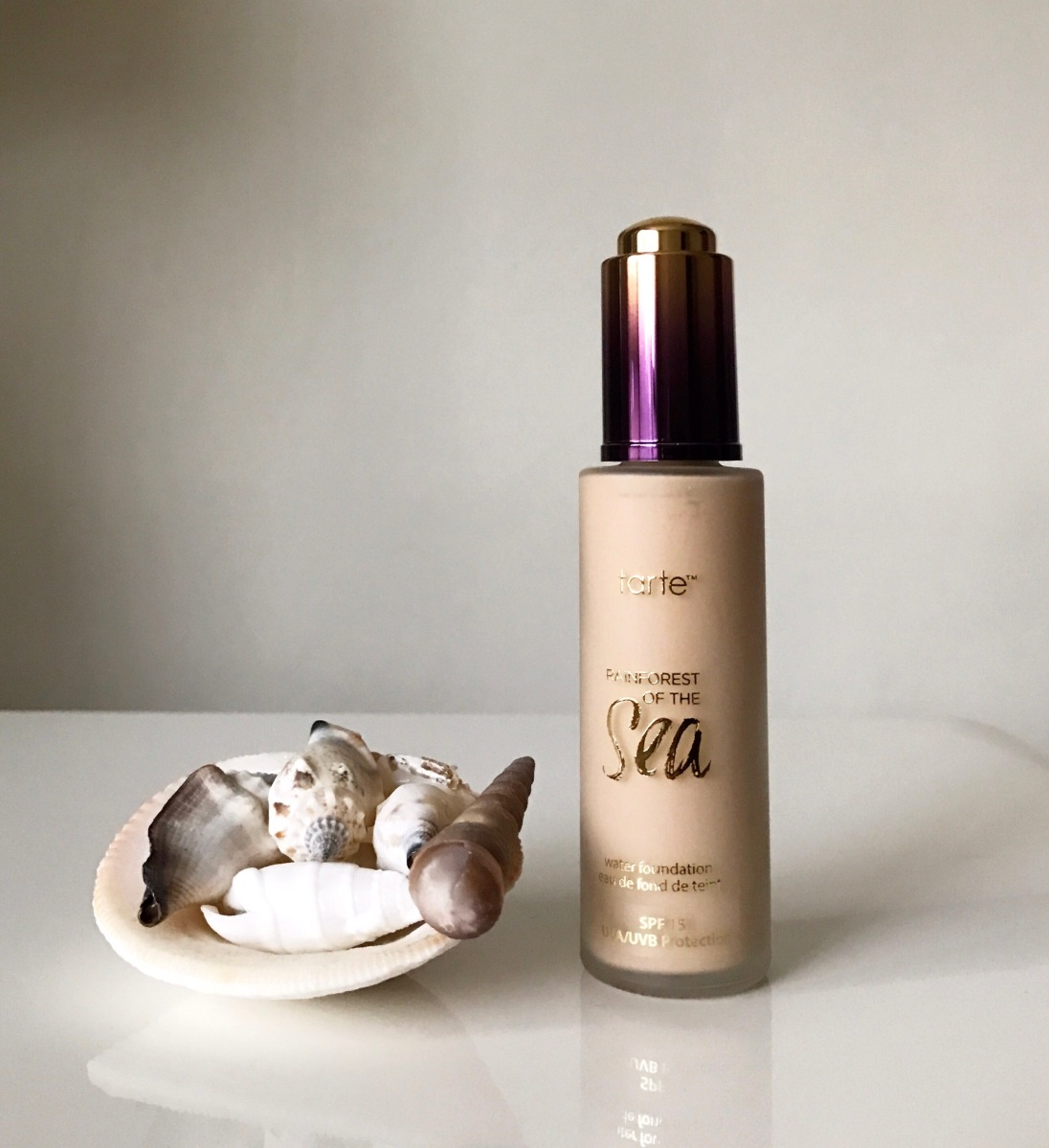 tarte rainforest of the sea foundation review dry skin