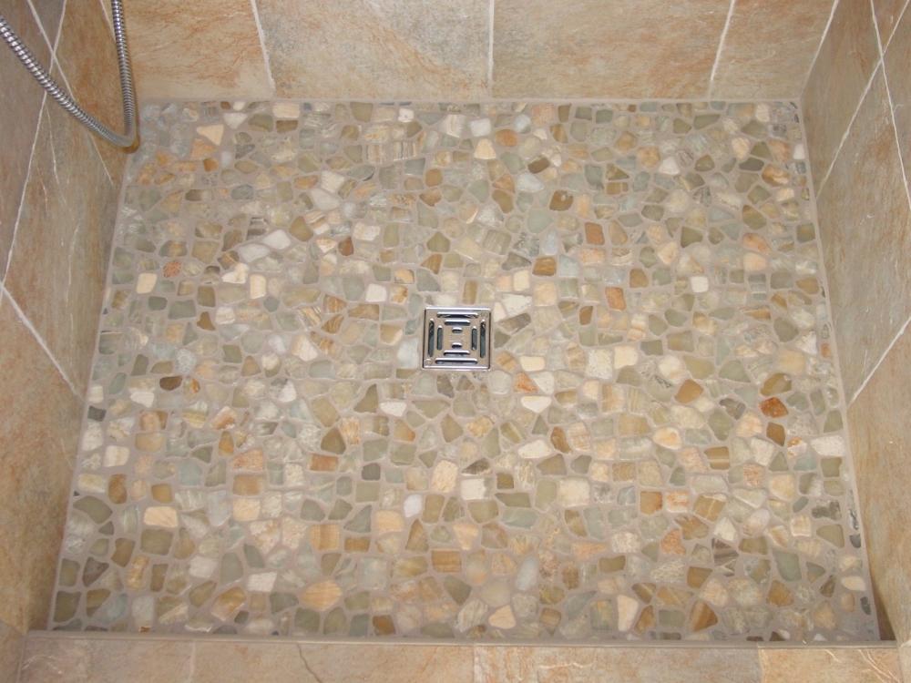 pebble tile shower floor reviews