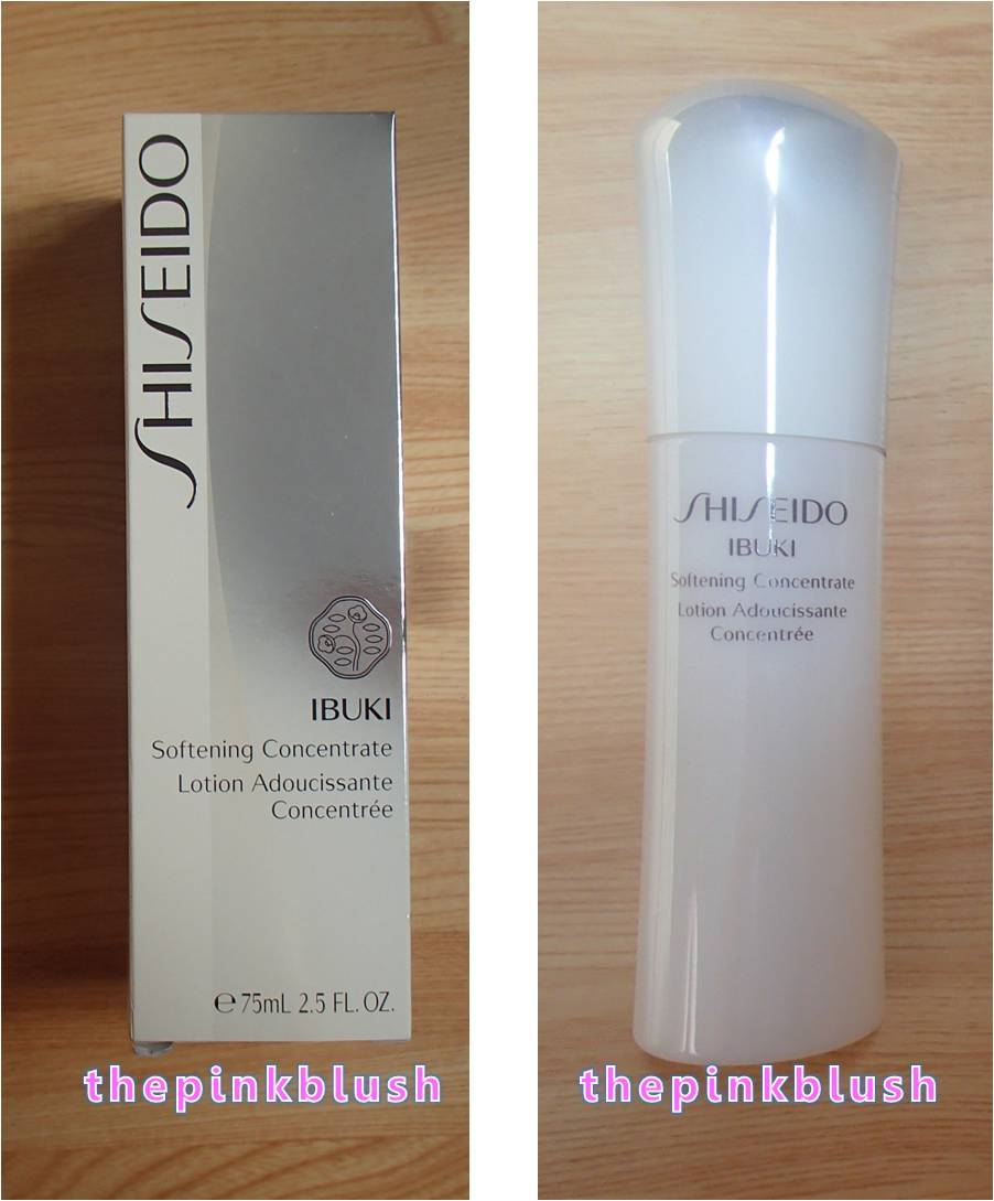 shiseido ibuki softening concentrate review